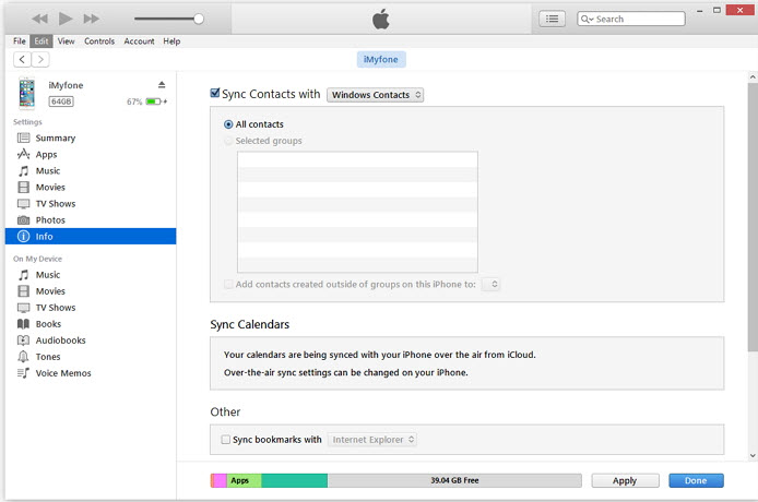 export-contcats-to-csv-by-itunes