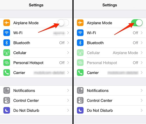 how to turn off airplane mode on locked iphone
