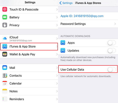 how to turn on data on iphone
