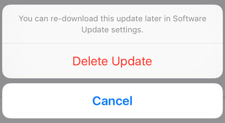 How to Delete an iOS Update on iPhone/iPad/iPod Touch
