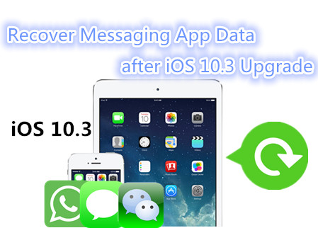 How to Recover Messaging App Data after iOS 10.3 Upgrade