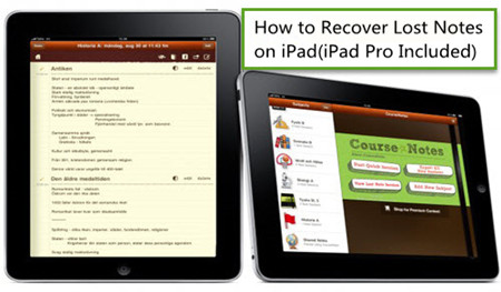 How to Recover Lost Notes on iPad(iPad Pro Included)