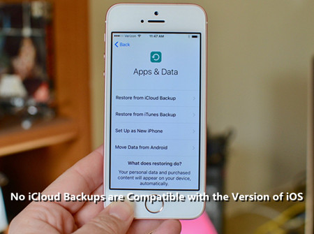 How to Fix No iCloud Backups Are Compatible with the Version of iOS