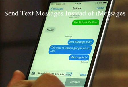 How to Send Text Messages Instead of iMessages on iPhone