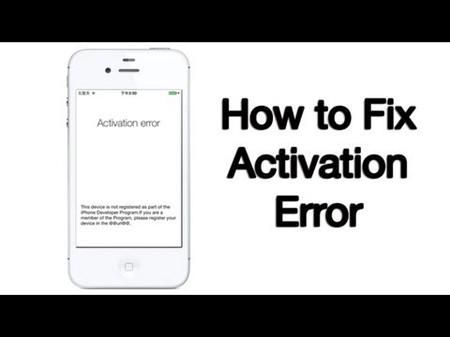 Activation Error When iOS 11 Update. How to Fix?