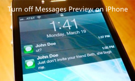 How to Turn Off Messages Preview on iPhone