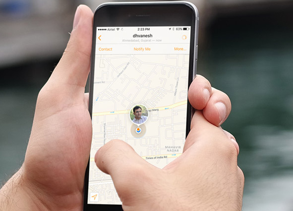 Track your Friends Location with iPhone iPad