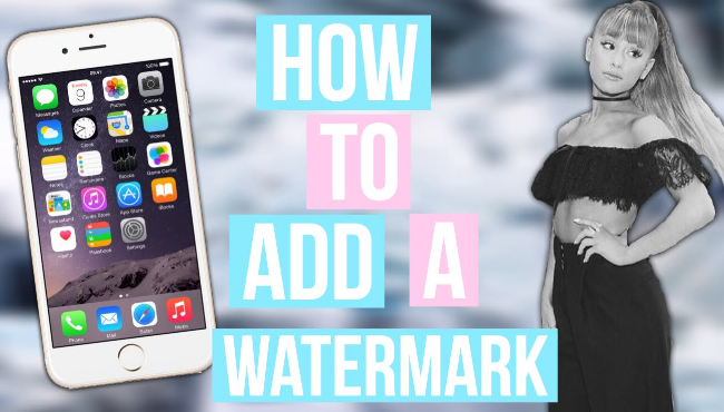 Add Watermarks to Photos on iPhone