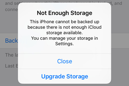 There is no Free Storage for iCloud Backup, What Can I do?