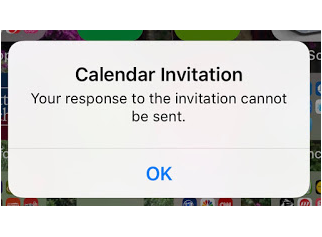 iPhone X calendar invitation not sent